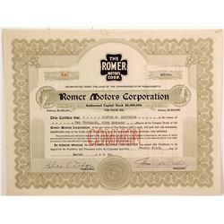 Romer Motors Corp  (77204)