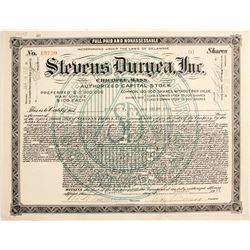 Stevens Duryea, Inc.  (89722)