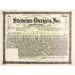 Stevens Duryea, Inc.  (89723)