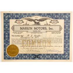 Marion Motors, Inc.  (88458)