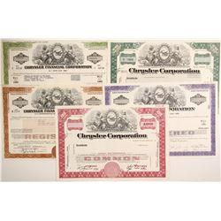 Chrysler Corp. stock, bonds, bond, note  (88464)