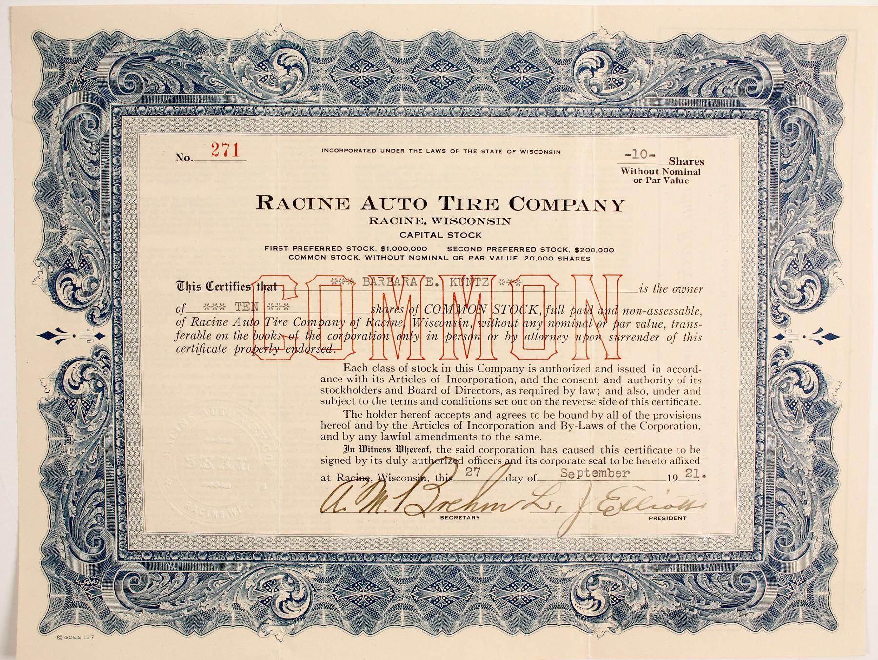 Racine Auto Tire Company (89763)