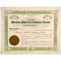 Maritime Motor Car Co. Limited  (88457)