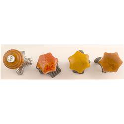 4 Vintage Suicide Spinner knobs  (51402)