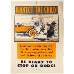 Early Automobile Safety Poster  (89939)