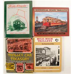 Trolley Car Books (4)  (88568)