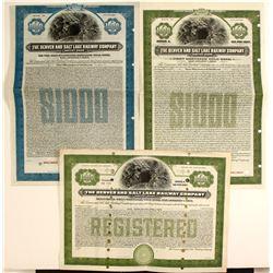 Denver and Salt Lake Railway Co bonds  (91019)