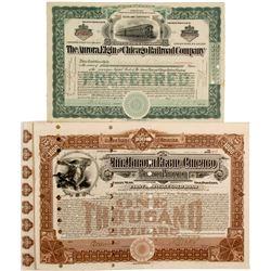 Aurora, Elgin & Chicago Railroad Co stock & bond  (82932)