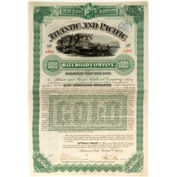 Atlantic and Pacific Railroad Co bond  (82936)