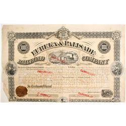 Eureka & Palisade Railroad Company Bond  (77255)