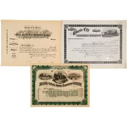 3 Unissued New Jersey Railroad stock  (82923)