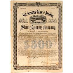 Ashbury Park and Belmar St Railway Co  (82938)