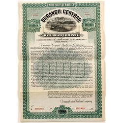 Durango Central Railroad Company Bond  (77250)