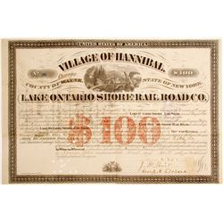 Lake Ontario Shore Rail Road Bond  (85116)