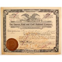 Denver, Enid and Gulf Railroad Company  (91008)