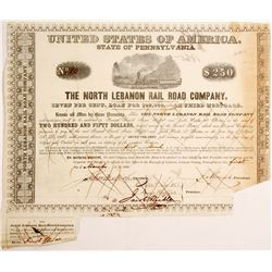 North Lebanon Rail Road Bond  (83251)
