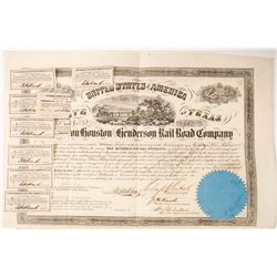 Galveston, Houston & Henderson Rail Road Co bond  (77268)