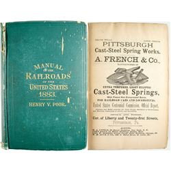 Poor's Manual of Railroads Of the US 1883  (53621)