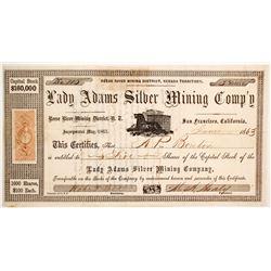 Lady Adams Silver Mining Company Stock  (88706)
