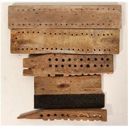 Underground Mining Wood Tally Boards (6)  (100045)