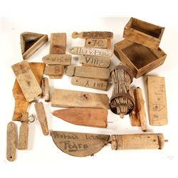 Wood Tools and Artifacts from UT Mines  (89135)