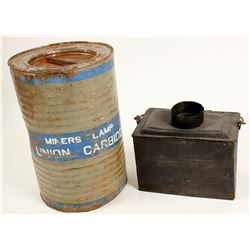Miner's Lunch Pail and Union Carbide Tin  (89158)