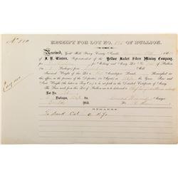 Conrad Wiegand  / Yellow Jacket Mine / Eureka Mill Assay Report  (99595)