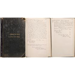 Lucerne (Silver Hill) Mining Company Book of Abstracts  (99628)