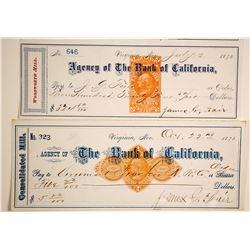 Comstock Checks Signed by Fair (2), VT&T RR  (89965)