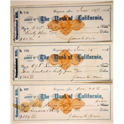 Comstock Checks signed by Fair including V&T RR  (89964)