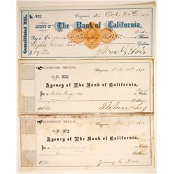 Comstock Checks with Mackay and Fair Sigs  (89947)