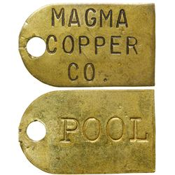 Magma Copper Co. Brass Tag  (91156)