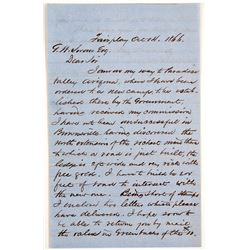 Fairplay 1866 Letter about Gold Deposit  (90969)