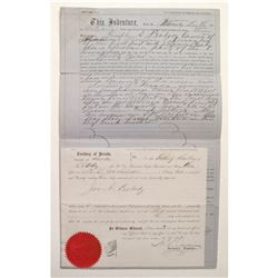 Rare Canon City; Territorial Deed  (99494)