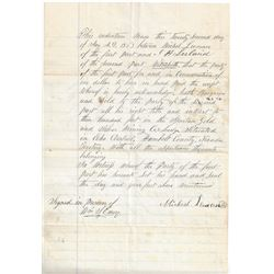 Territorial Deed for Sale for 300 Feet of the Spartan Gold & Silver Mining Company  (99510)