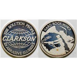 Clarkson Abrasives Silver Medal  (89130)
