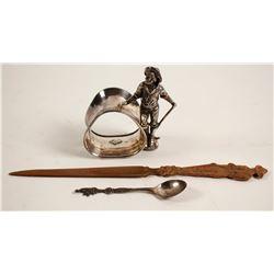Metal Miner Decorative Items (3)  (89323)