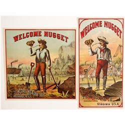 TC Williams Welcome Nugget Labels (2)  (90310)