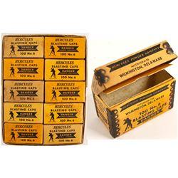 Hercules Blasting Caps Boxes (10) in Original Outer Box  (88565)