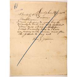Yukon Gold Rush Letter  (89337)
