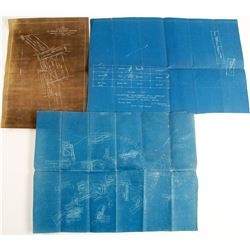 Midas Blueprint Mines Map and Two Fairview Blue Print Mining Maps  (99711)