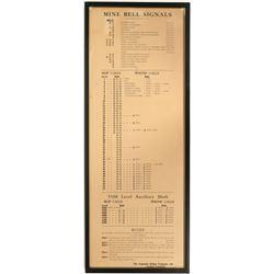 Argonaught Mining, Mine Bell Signals Sign  (88576)
