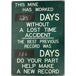 Metal Mine Safety Sign  (88578)