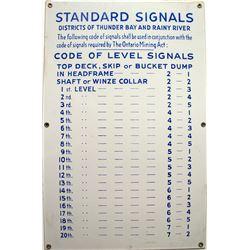 Standard Signals Sign  (45475)