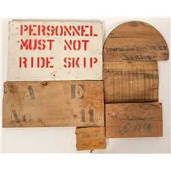 Wood Mine Signs and Box Ends  (100040)