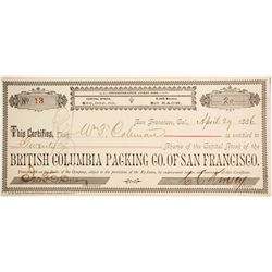 British Columbia Packing Co. of San Francisco Stock  (77032)