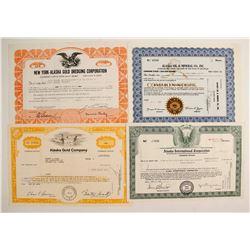 Modern Alaska Mining Company Stock Certificates  (77057)