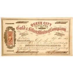 Queen City Gold & Silver Mining Company Stock  (77007)