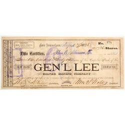 Gen'L Lee SIlver Mining Company  (77023)