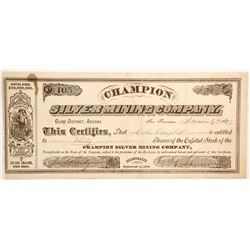 Champion Silver Mining Company Stock  (77001)